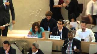Haneene Battrawi, 27th regular session of the Human Rights Council, 23 September 2014