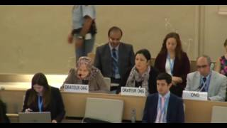 33rd session of the Human Rights Council - Item 9 - Ms Iman Abu Zueiter