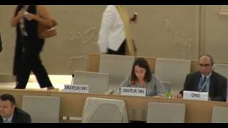 33rd session of the Human Rights Council - Item 9 - Ms Alessia Vedano