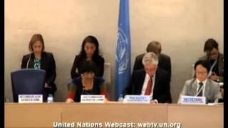 Opening Session 24th session of the HRC - Navi Pillay adressing executions in Iraq