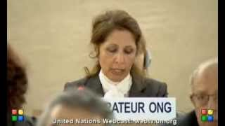 Entisar al-Obadi, General Segment, 25 Session of the Human Rights Council, 6 March 2014