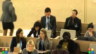 GICJ - ID Special Advisor on the Prevention of Genocide 25th Regular Session of Human Rights Council
