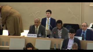 34th Session of the Human Rights Council - GD Item: 9 - Mr Mutua Kobia - 20 March 2017
