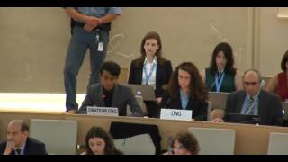 35th Session of the Human Rights Council - GD Item: 6 - Mr Siddharth Abraham Srikanth 19 June 2017