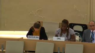 36th Session of the Human Rights Council - ID: Working Group African Descent - Ms. Martina Castoglioni 26 September 2017