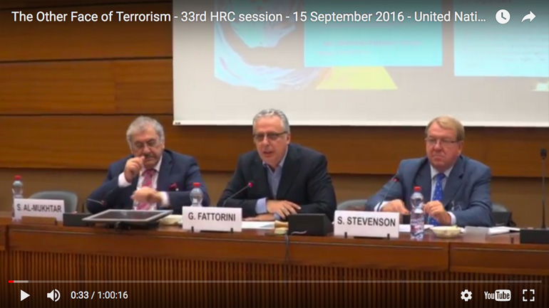 The Other Face of Terrorism - 33rd HRC session - 15 September 2016 - United Nations - Geneva