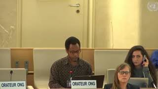 40th Session UN Human Rights Council - Item 4 Dialogue with Commission on South Sudan - Mutua K. Kobia