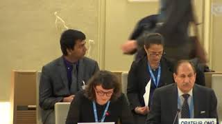 40th Session UN Human Rights Council - Xenophobia and Hate Speech under Item 9 - Ms. Giulia Marini