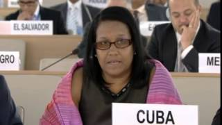 22nd Special Session of Human Rights Council, Cuba, Ms Anayansi Rodríguez Camejo