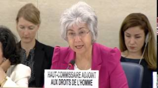 22nd Special Session of Human Rights Council, Ms Flavia Pansieri, Deputy High Commissioner for Huma