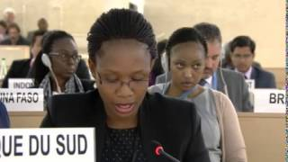 22nd Special Session of Human Rights Council, South Africa, Ms Tsholofelo Tsheole