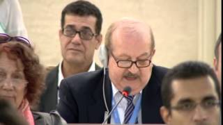 22nd Special Session of Human Rights Council, Union of Arab Jurists, Mr Elias Khouri Joint Statemen