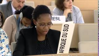 Adoption of Resolution A HRC S 22 L 1 22nd Special Session of Human Rights Council South Africa