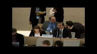 22nd Session of the UN Human Rights Council - item 3 - Ms Gala Maric