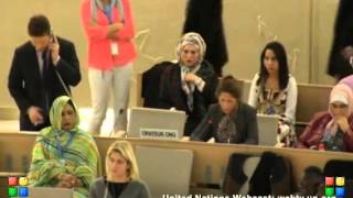 7 March 2013 Panel Discussion on Genocide 25th Human Rights Council, Entisar al Obady (English)