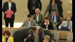 Valérie de Chambrier Item 4 GD 25th Session of Human Rights Council (French)
