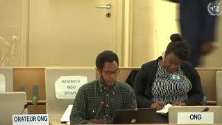 39th Session UN Human Rights Council - Item 10 ID on Human Rights in DRC - Mutua K. Kobia
