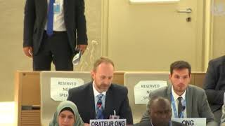 39th Session UN Human Rights Council - Item 7 COI on Occupied Palestinian Territory - Chris Gawronski