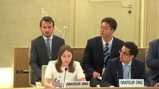 40th Session UN Human Rights Council - Peace and Security under GD Item 2 - Ms. Claudia Bennett