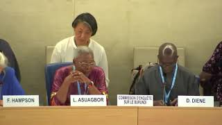 41st Session UN Human Rights Council - Response by Commission of Inquiry on Burundi - Ms. Lucy Asuagbor