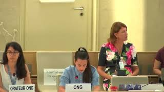 42nd Session UN Human Rights Council - Excessive use of Force against Minorities in Myanmar: Dialogue with Fact Finding Mission of Human Rights in Myanmar - Valentina Gutierrez