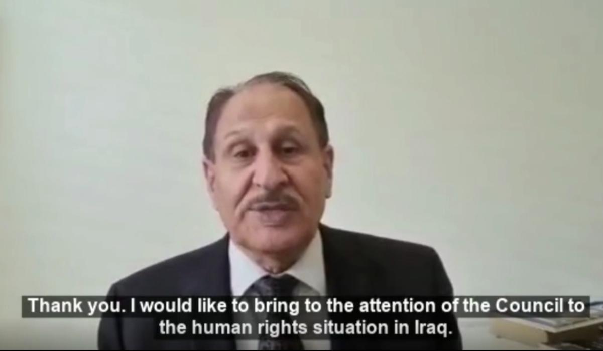 Naji Haraj of GICJ - 48th Session of UN Human Rights Council - Human Rights in Iraq